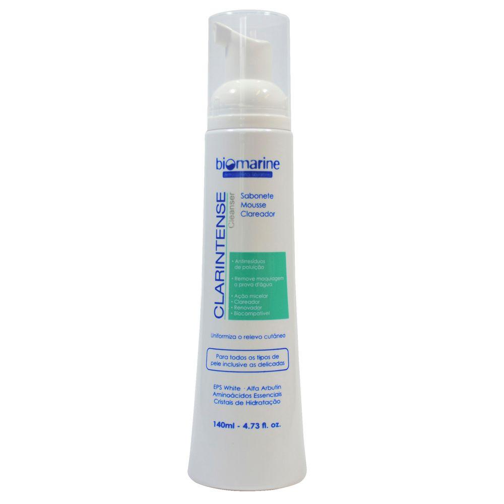 Biomarine-Sabonete-Mousse-Clareador-Clarintense-Cleanser-140ml