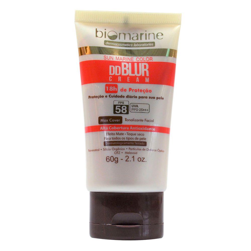 Biomarine-Tratamento-Facial-DD-Blur-FPS58-Efeito-Pele-Lisa-Cor-Natural-60g