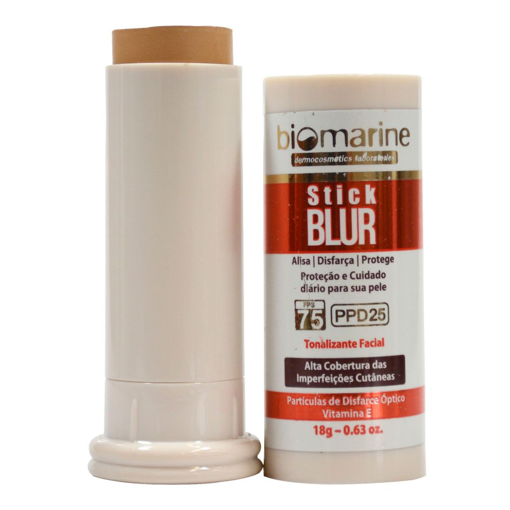 Biomarine-Base-Bastao-com-Protetor-Solar-Stick-Blur-FPS-75-PPD-25-Chocolate-18g