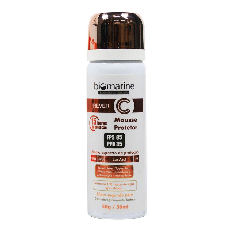 Biomarine-Protetor-Solar-com-Vitamina-C-Rever-C-Mousse-FPS85-50g