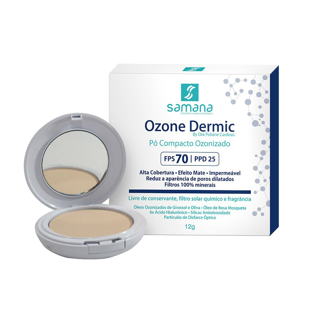Samana-Po-Compacto-com-Ozonio-Ozone-Dermic-FPS70-Bege