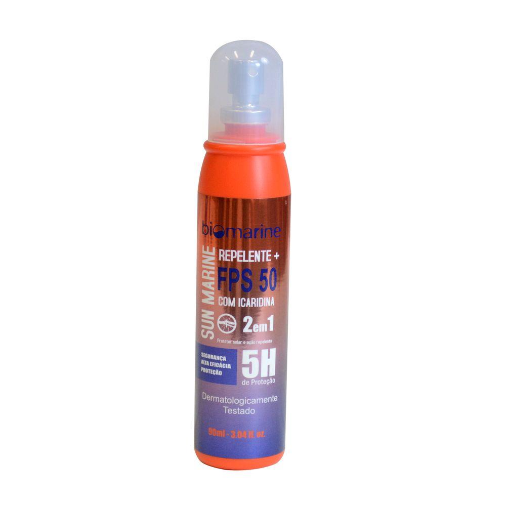 Biomarine-Repelente-Icaridina-e-Protetor-Solar-Sun-Marine-FPS50-90ml
