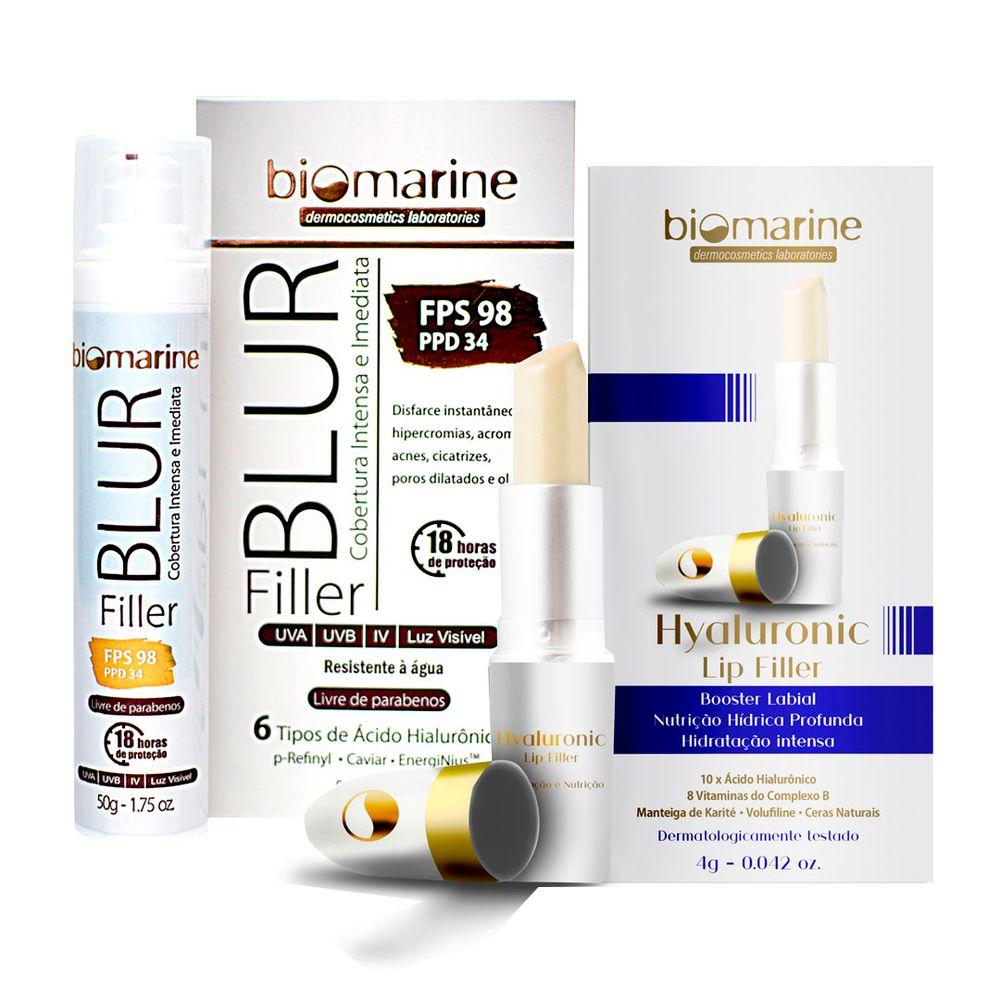 Kit-Biomarine-Blur-Filler-FPS98-Natural-e-Hidratante-Labial-Hialuronic